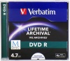 Фото товара DVD R Verbatim 4.7Gb 4x Printable M-Disc (Jewel Box 1pcs) (43820)