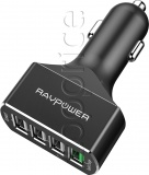 Фото Автомобильное З/У RavPower 54W 4xUSB with Quick Charge 3.0 Black (RP-VC003)