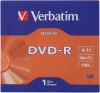 Фото товара DVD-R Verbatim Data Life 4.7Gb 16x Jacket Case 1pcs (43844)