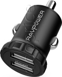 Фото Автомобильное З/У RavPower Mini Dual USB Car Charger 24W 4.8A with iSmart 2.0 (RP-PC031)
