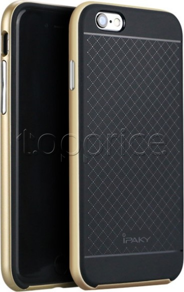 Фото Чехол для iPhone 6 Plus iPaky Carbon Case Gold
