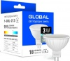 Фото товара Лампа Global LED MR16 3W 4100K 220V GU5.3 (1-GBL-212)