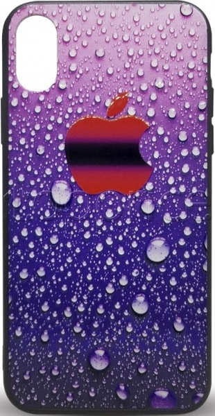 Фото Чехол для iPhone Xs Max 3D Rain Silicon Cover Violet