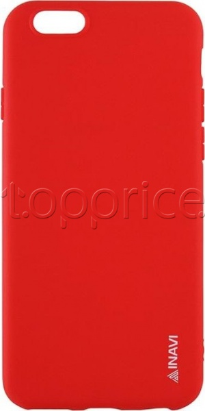 Фото Чехол для iPhone 5 Inavi Simple Color Silicon Cover Red