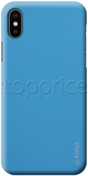 Фото Чехол для iPhone X/Xs Inavi Simple Color Silicon Cover Light Blue