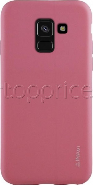Фото Чехол для Samsung Galaxy A8 2018 A530 Inavi Simple Color Silicon Cover Pink