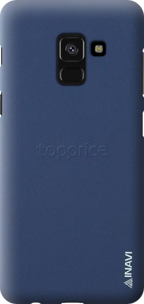 Фото Чехол для Samsung Galaxy A8 2018 A530 Inavi Simple Color Silicon Cover Dark Blue