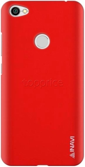 Фото Чехол для Xiaomi Redmi Note 5A Prime Inavi Simple Color Silicon Cover Red