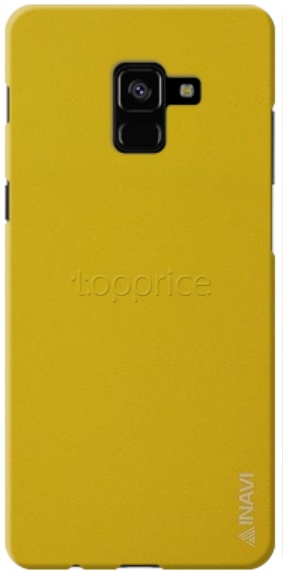 Фото Чехол для Samsung Galaxy A8+ 2018 A730 Inavi Simple Color Silicon Cover Yellow