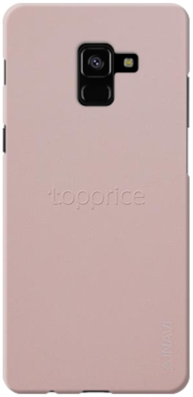 Фото Чехол для Samsung Galaxy A8+ 2018 A730 Inavi Simple Color Silicon Cover Peach