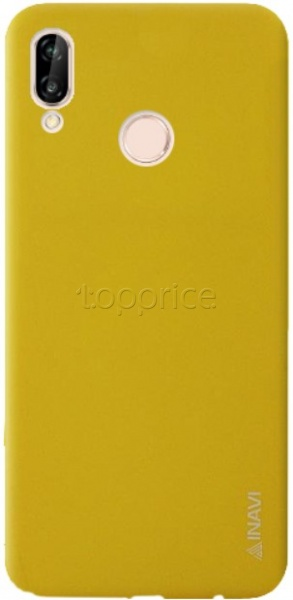 Фото Чехол для Huawei P20 Lite Inavi Simple Color Silicon Cover Yellow