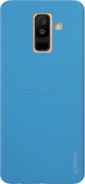 Фото Чехол для Samsung Galaxy A6+ 2018 A605 Inavi Simple Color Silicon Cover Light Blue