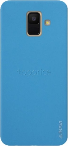 Фото Чехол для Samsung Galaxy A6 2018 A600 Inavi Simple Color Silicon Cover Light Blue
