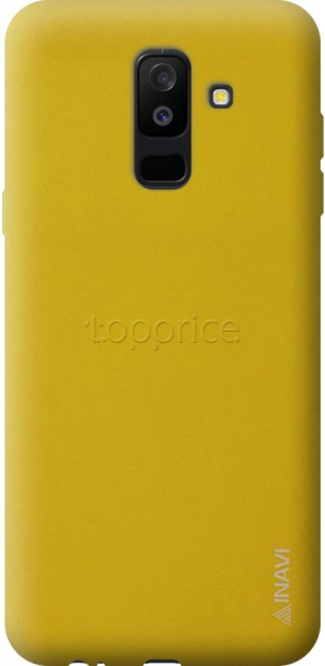 Фото Чехол для Samsung Galaxy A6+ 2018 A605 Inavi Simple Color Silicon Cover Yellow