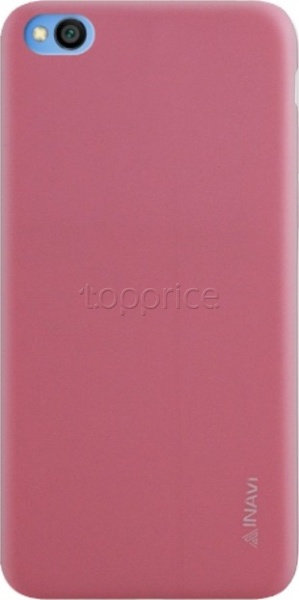 Фото Чехол для Xiaomi Redmi Go Inavi Simple Color Silicon Cover Pink
