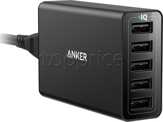 Фото Сетевое З/У Anker PowerPort 5  Power IQ V3 Black (A2124L12)