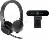 Фото Комплект Logitech Pro Personal Video Collaboration Kit Zone Wireless + Brio (991-000309)