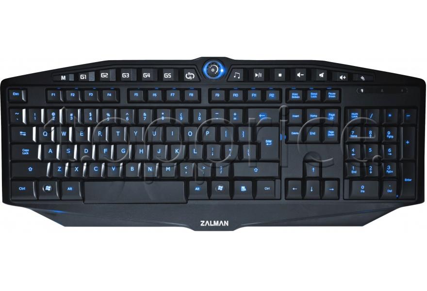 Клавиатура Zalman ZM-K400G, игровая с двойной подсветкой, 5 игровых и 7 мультим. клавиш, встроенный