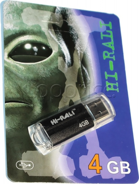 Фото USB флеш накопитель 4GB Hi-Rali Corsair Series Black (HI-4GBCORBK)