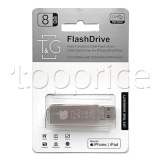Фото Lightning/USB флеш накопитель 8GB T&G 004 Metal Series (TG004IOS-8G3)