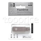 Фото Lightning/USB флеш накопитель 16GB T&G 004 Metal Series (TG004IOS-16G3)