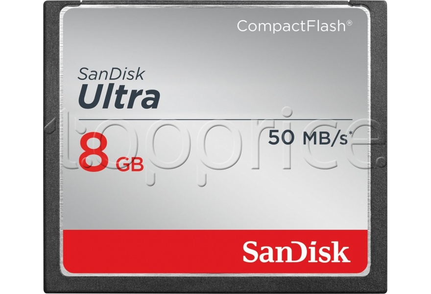 Фото Карта памяти Compact Flash 8GB SanDisk Ultra 50Mb/s (SDCFHS-008G-G46)