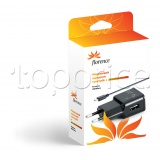 Фото Сетевое З/У Florence USB + cable microUSB Black 1000mA (TC10-MU)
