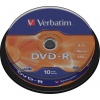 Фото товара DVD-R Verbatim Matt Silver 4.7Gb 16x (10 Pack Cakebox) (43523)