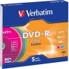 Фото товара DVD-R Verbatim Colour 4.7Gb 16x (5 Pack Slim Case) (43557)