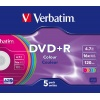 Фото товара DVD+R Verbatim Colour 4.7Gb 16x (5 Pack OPP) (43556)