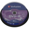 Фото товара DVD+R Verbatim Matt Silver 4.7Gb 16x (10 Pack Cakebox) (43498)