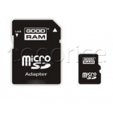 Фото Карта памяти micro SDHC 4Gb GoodRam (Class 4, adapter) (SDU4GHCAGRR10)