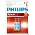 Фото Батарейки Philips PowerLife LR03-P2B (LR03P2B/97) 2 шт