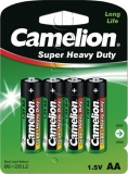 Фото Батарейки Camelion Super Heavy Duty Green AA R6 (R6P-BP4G) 4 шт