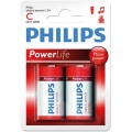 Фото Батарейки Philips PowerLife LR14-P2B (LR14P2B/97) 2 шт