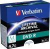 Фото товара DVD-R Verbatim M-Disc Printable 4.7GB 4x (5 Pack Jewel Case) (43821)