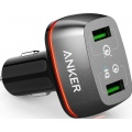 Фото Автомобильное З/У Anker PowerDrive+ 2 Black with Quick Charge 3.0 V3 Black (A2224H11)